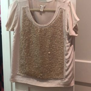 Jcrew sequin blouse